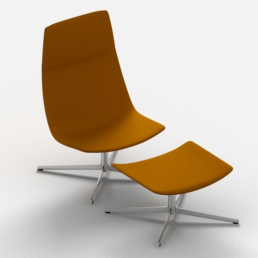 Catifa 70 Lounge Chair royalty-free 3d model - Preview no. 3