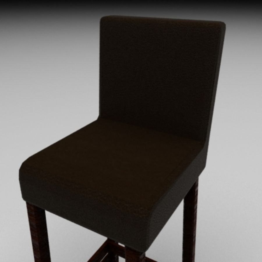 Leather Bar Chair royalty-free 3d model - Preview no. 2