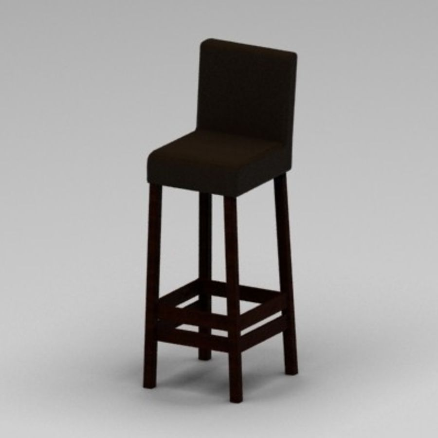 Leather Bar Chair royalty-free 3d model - Preview no. 4