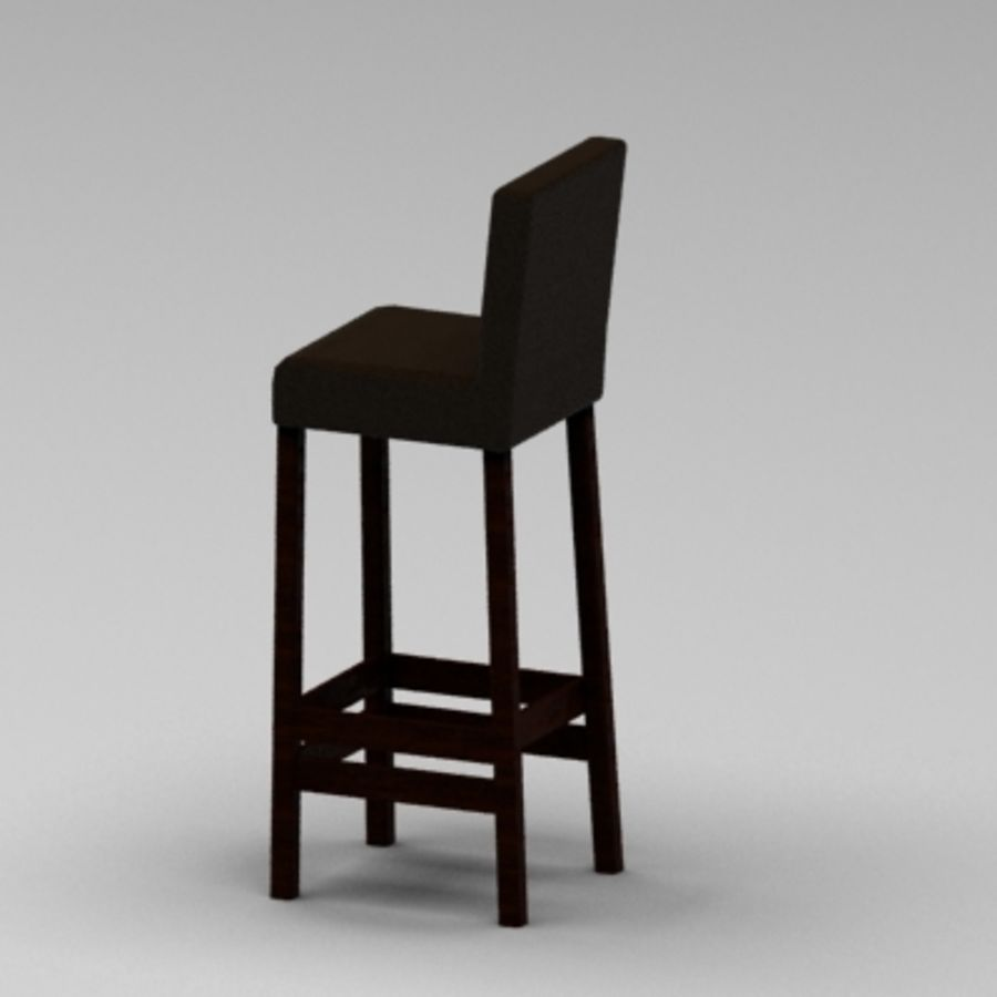 Leather Bar Chair royalty-free 3d model - Preview no. 3