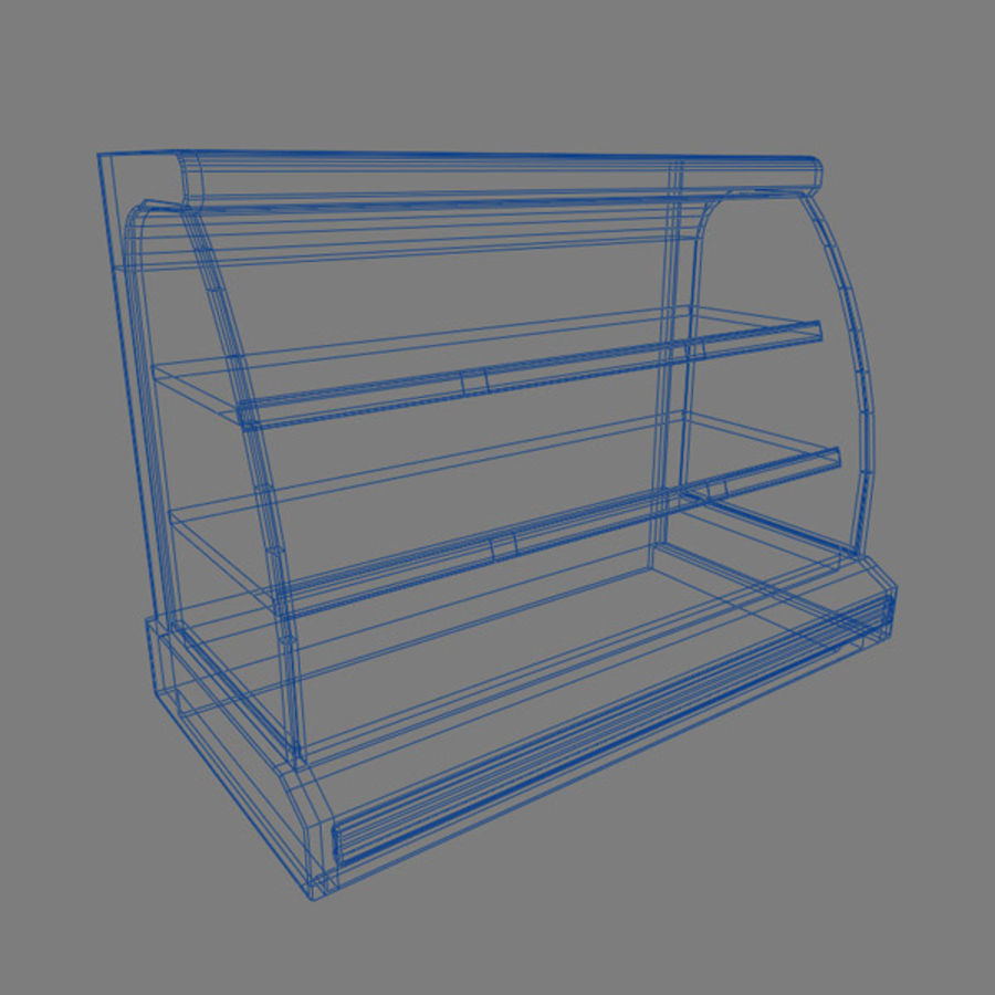 Chilled Shelving Small royalty-free 3d model - Preview no. 3