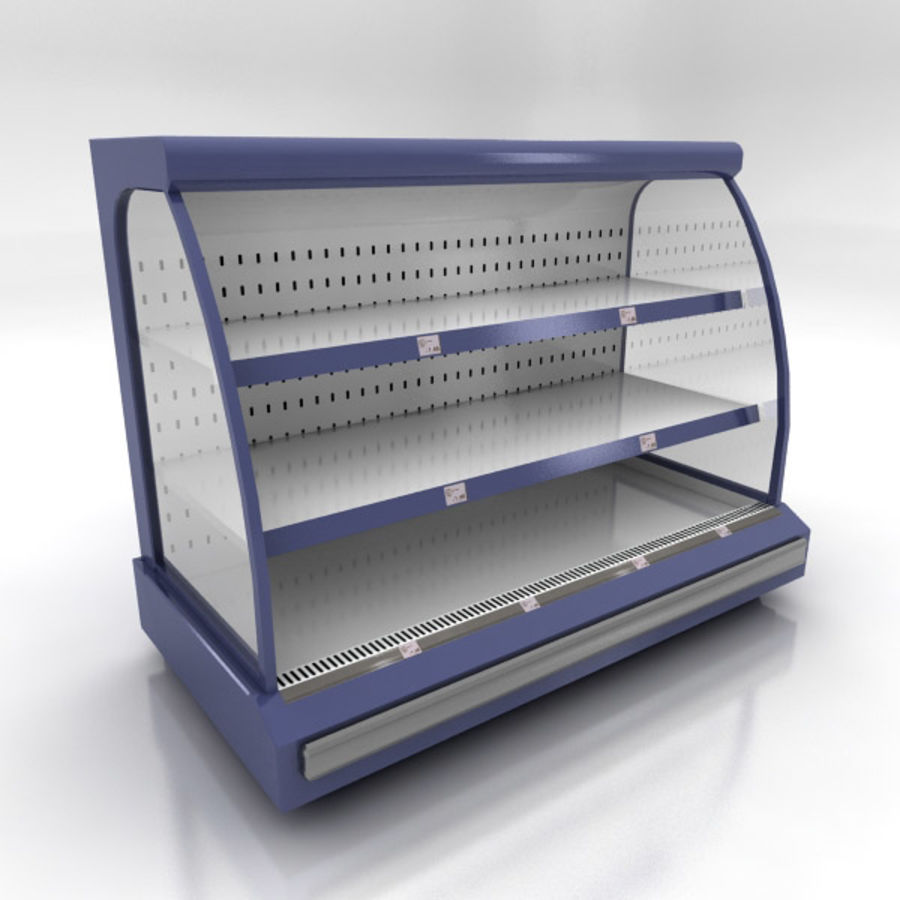 Chilled Shelving Small royalty-free 3d model - Preview no. 1
