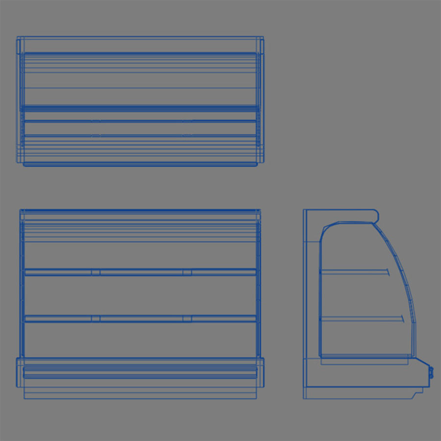 Chilled Shelving Small royalty-free 3d model - Preview no. 4