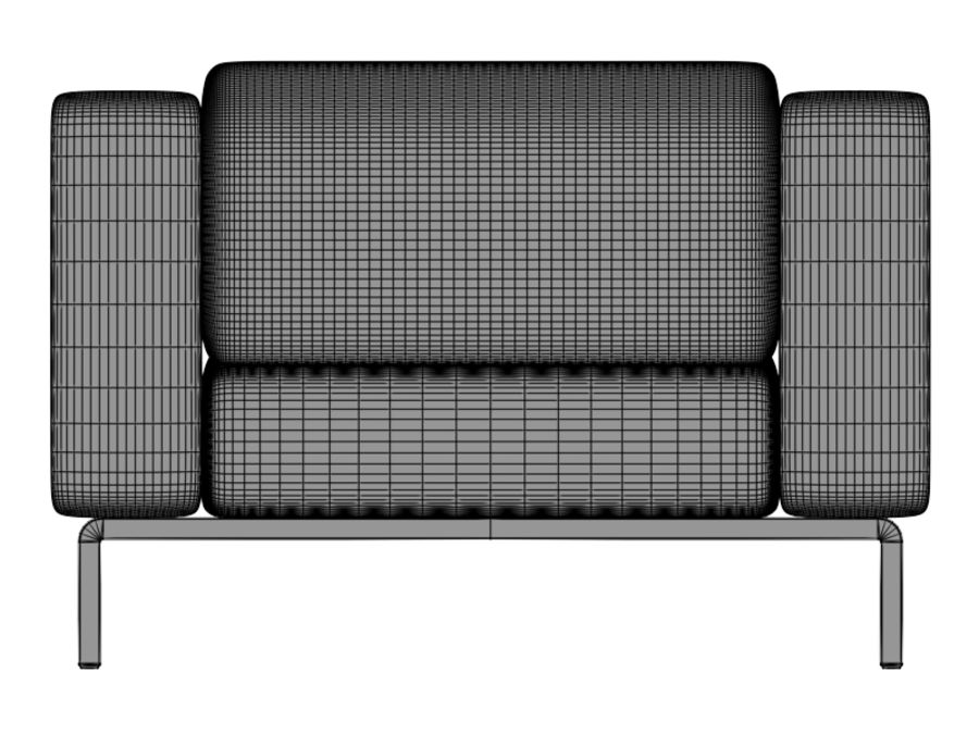 Leather Sofa royalty-free 3d model - Preview no. 7
