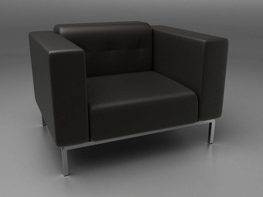 Leather Sofa royalty-free 3d model - Preview no. 1