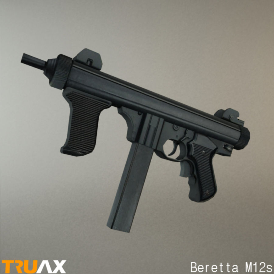 Beretta M12s royalty-free 3d model - Preview no. 3