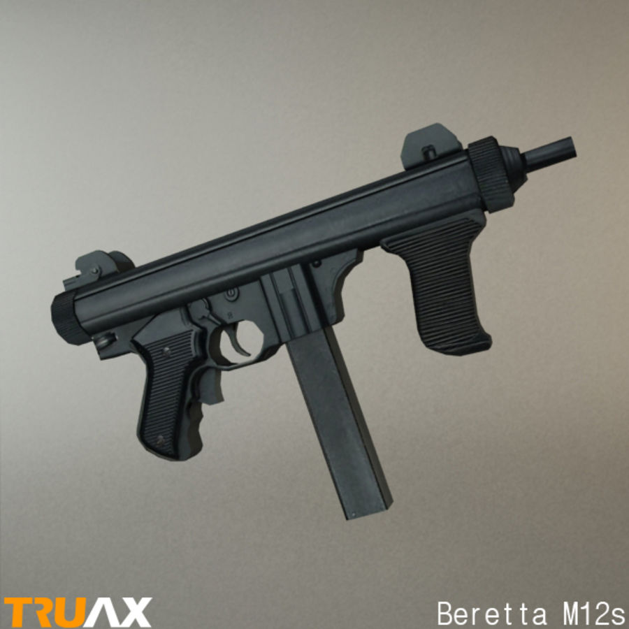 Beretta M12s royalty-free 3d model - Preview no. 1