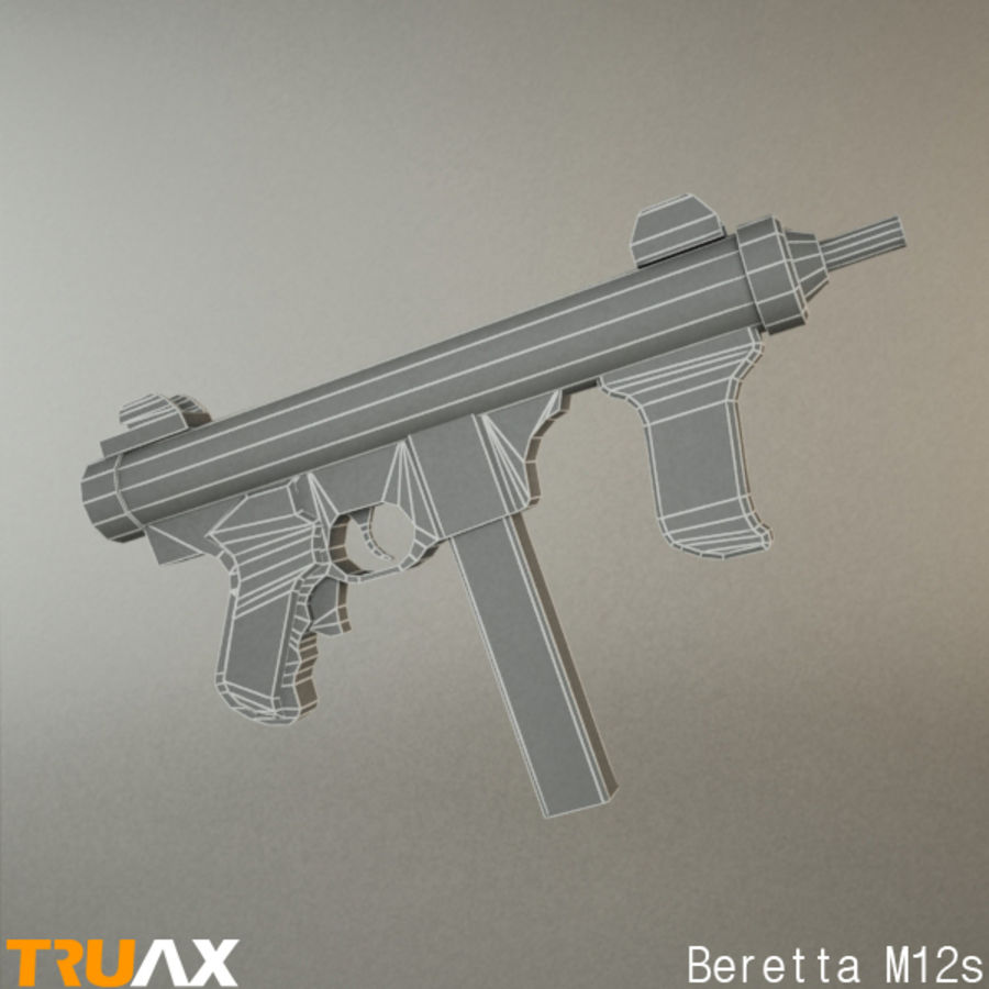 Beretta M12s royalty-free 3d model - Preview no. 2