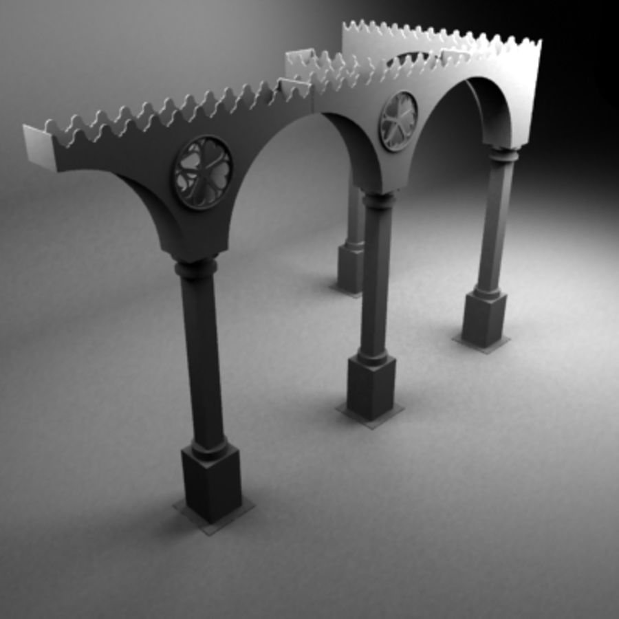 Venice gate royalty-free 3d model - Preview no. 2