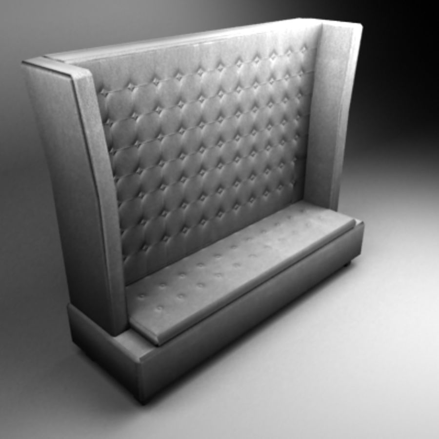 King sofa royalty-free 3d model - Preview no. 2