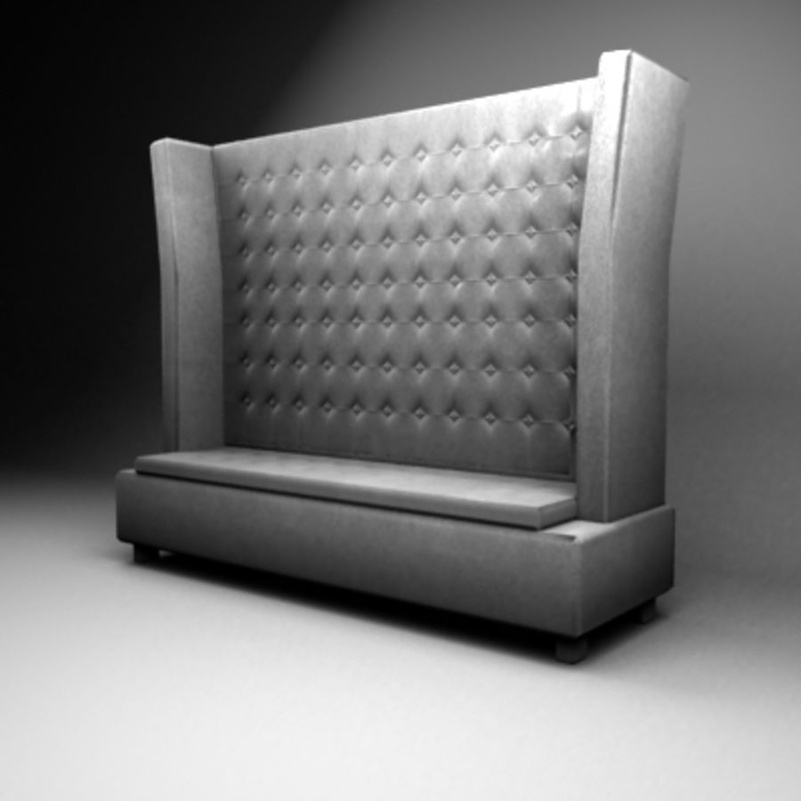 King sofa royalty-free 3d model - Preview no. 1