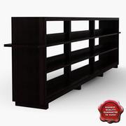 Wooden Showcase 3d model
