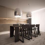 Pedrali餐饮套餐 3d model