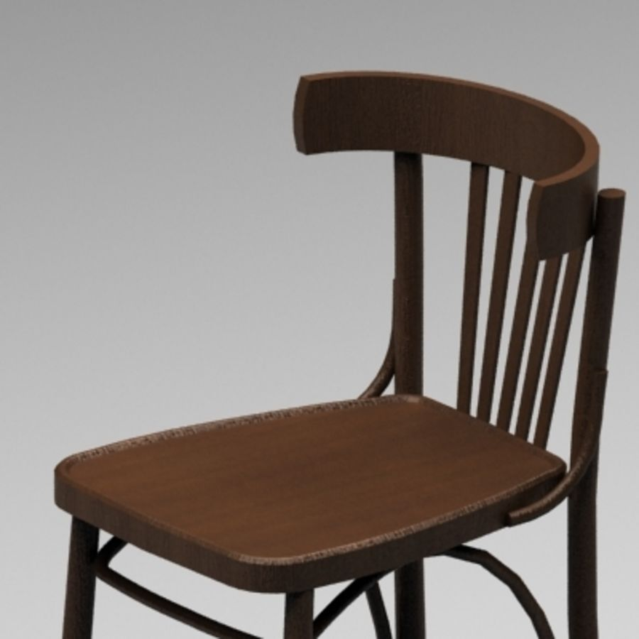 Pub Wood Bar chair royalty-free 3d model - Preview no. 2