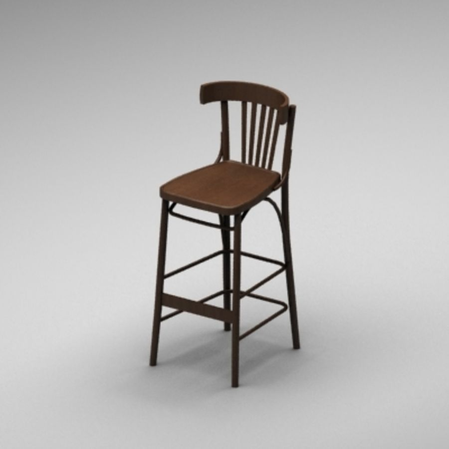 Pub Wood Bar chair royalty-free 3d model - Preview no. 1