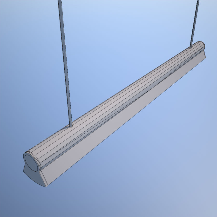 Fluorescent Ceiling Light royalty-free 3d model - Preview no. 6