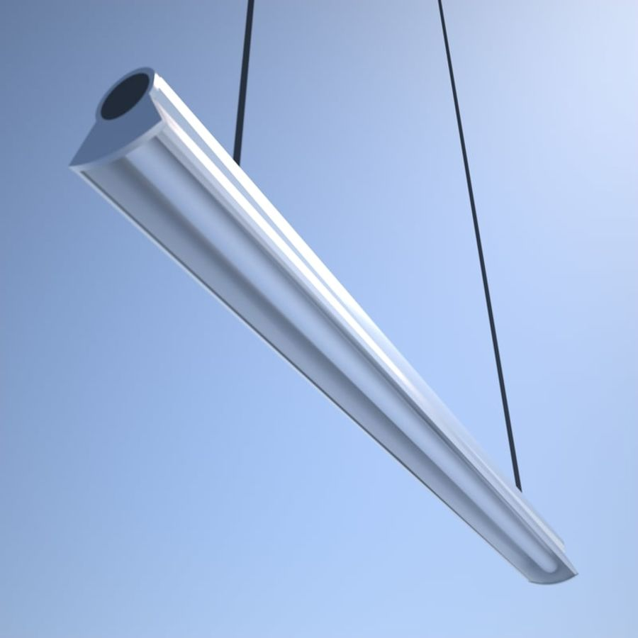 Fluorescent Ceiling Light royalty-free 3d model - Preview no. 3