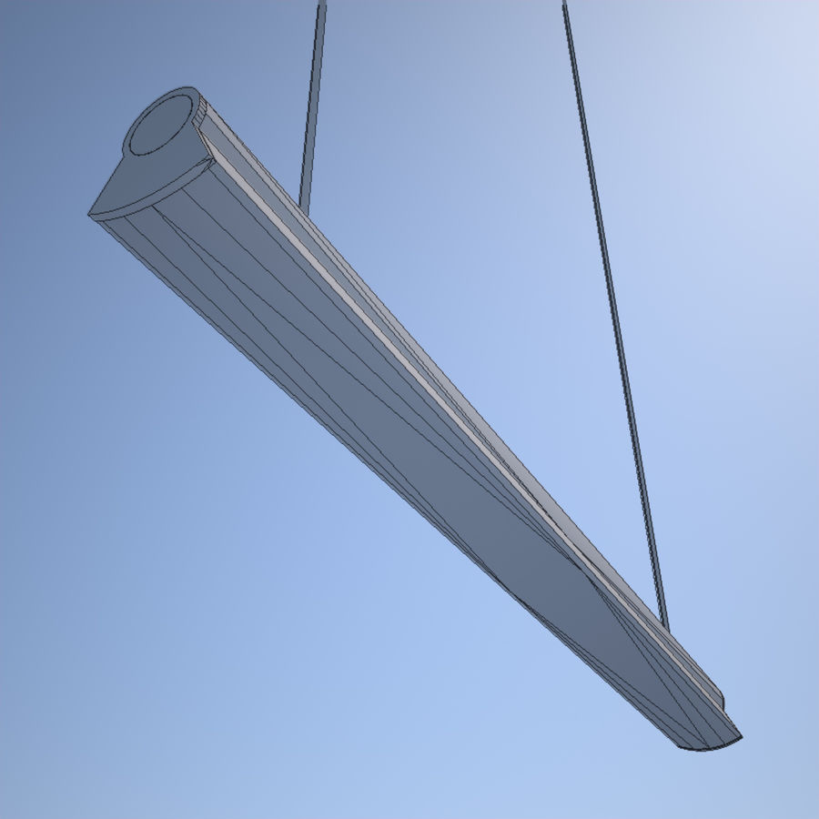 Fluorescent Ceiling Light royalty-free 3d model - Preview no. 4
