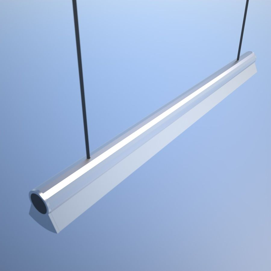 Fluorescent Ceiling Light royalty-free 3d model - Preview no. 5