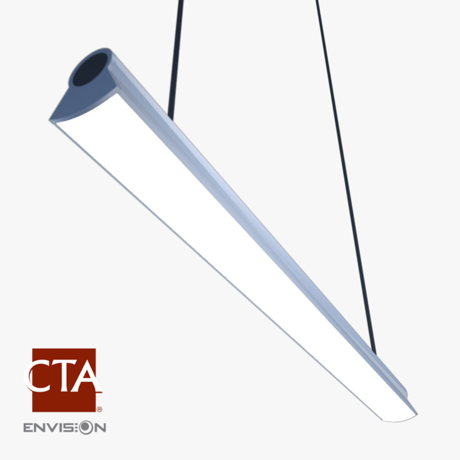 Fluorescent Ceiling Light royalty-free 3d model - Preview no. 1