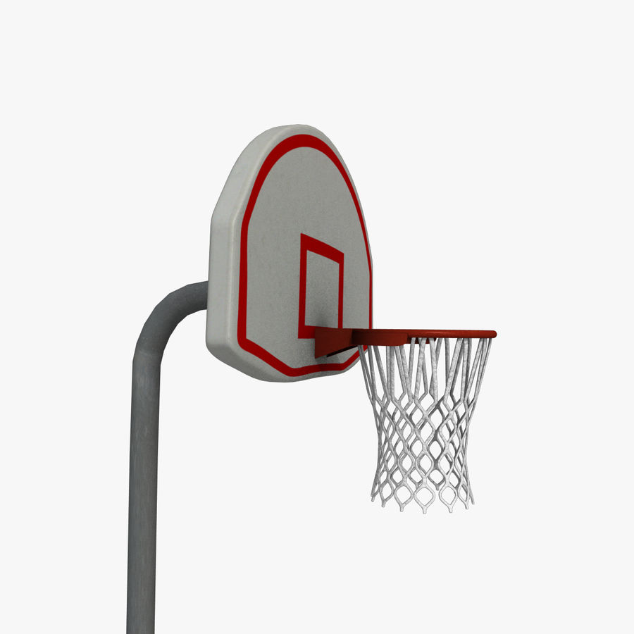 Outdoor Basketball Court royalty-free 3d model - Preview no. 1