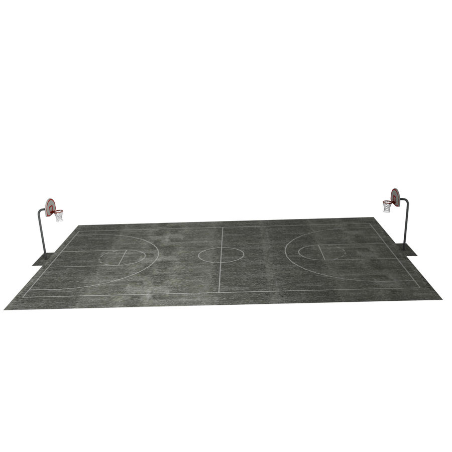 Outdoor Basketball Court royalty-free 3d model - Preview no. 10