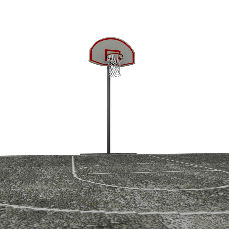 Outdoor Basketball Court royalty-free 3d model - Preview no. 4