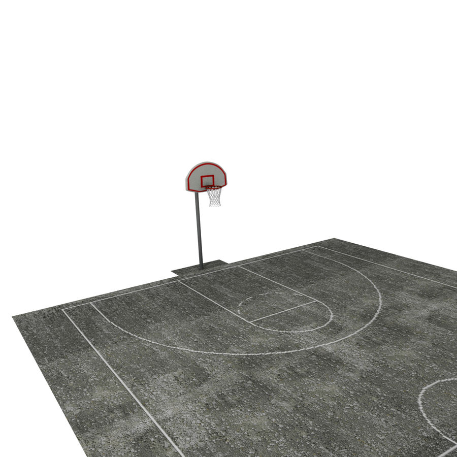 Outdoor Basketball Court royalty-free 3d model - Preview no. 9