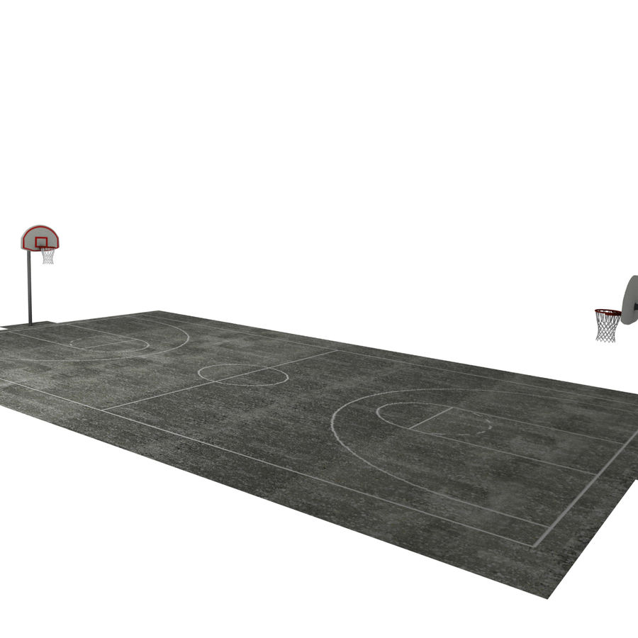 Outdoor Basketball Court royalty-free 3d model - Preview no. 11