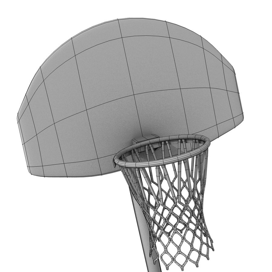 Outdoor Basketball Court royalty-free 3d model - Preview no. 13