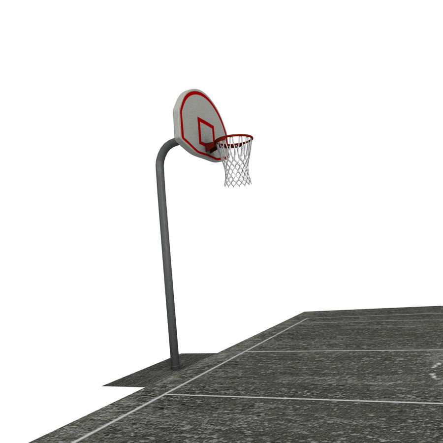 Outdoor Basketball Court royalty-free 3d model - Preview no. 5