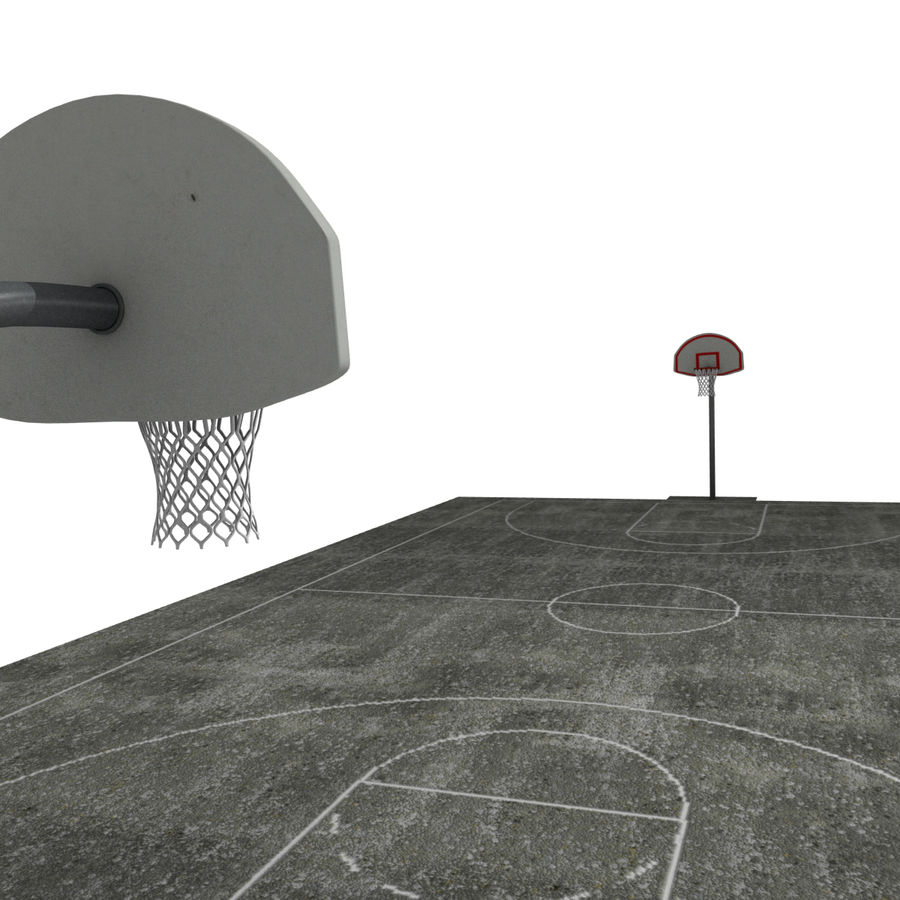 Outdoor Basketball Court royalty-free 3d model - Preview no. 8