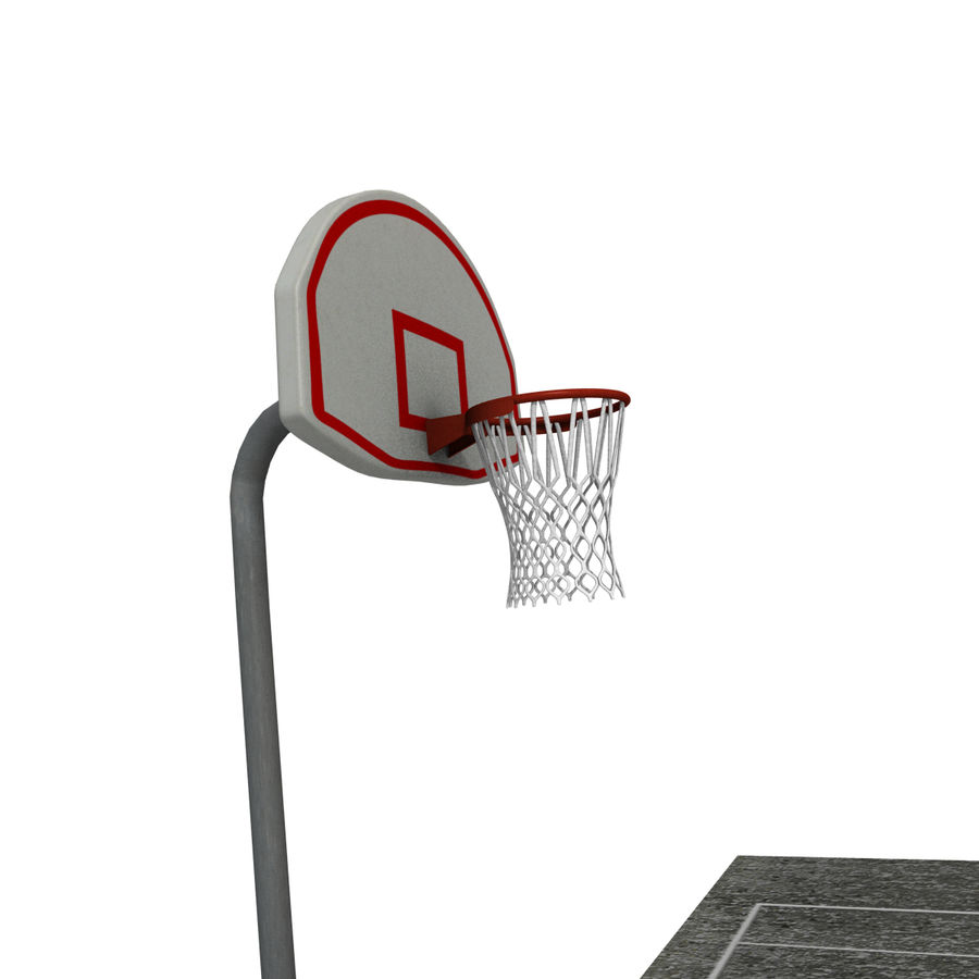 Outdoor Basketball Court royalty-free 3d model - Preview no. 3