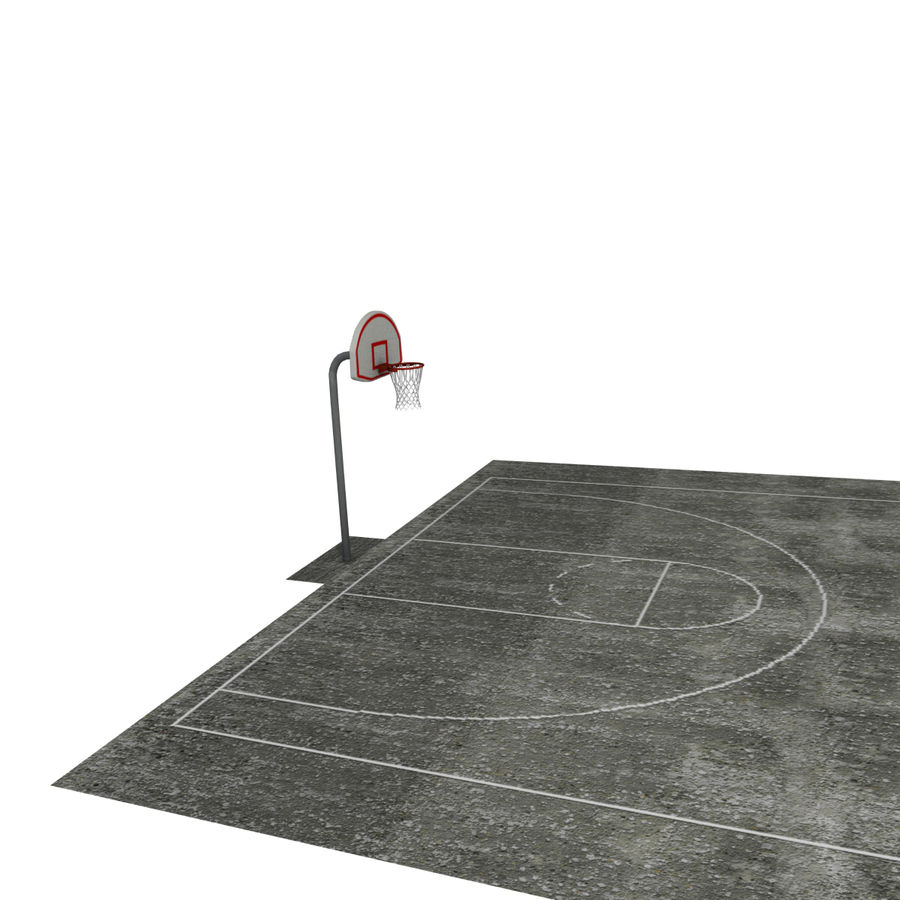 Outdoor Basketball Court royalty-free 3d model - Preview no. 6