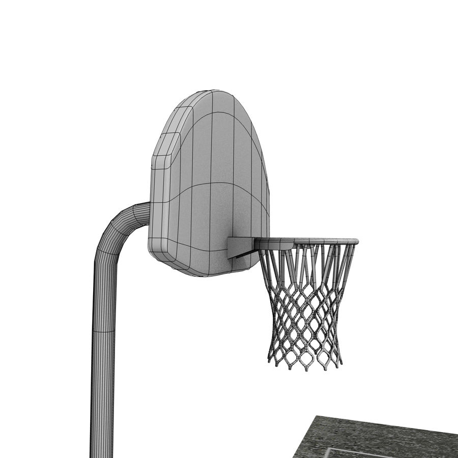 Outdoor Basketball Court royalty-free 3d model - Preview no. 12