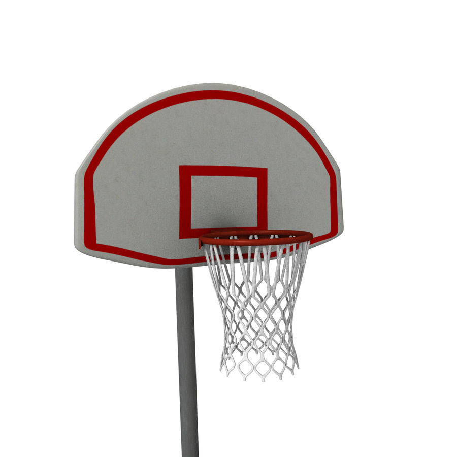 Outdoor Basketball Court royalty-free 3d model - Preview no. 2