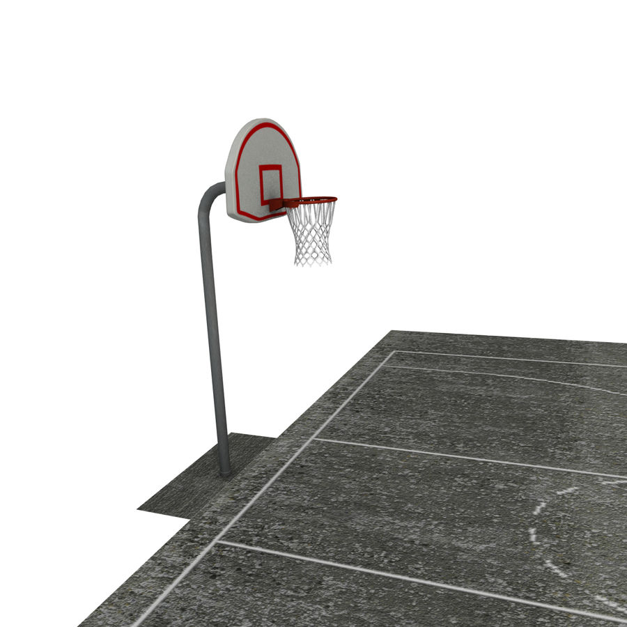 Outdoor Basketball Court royalty-free 3d model - Preview no. 7