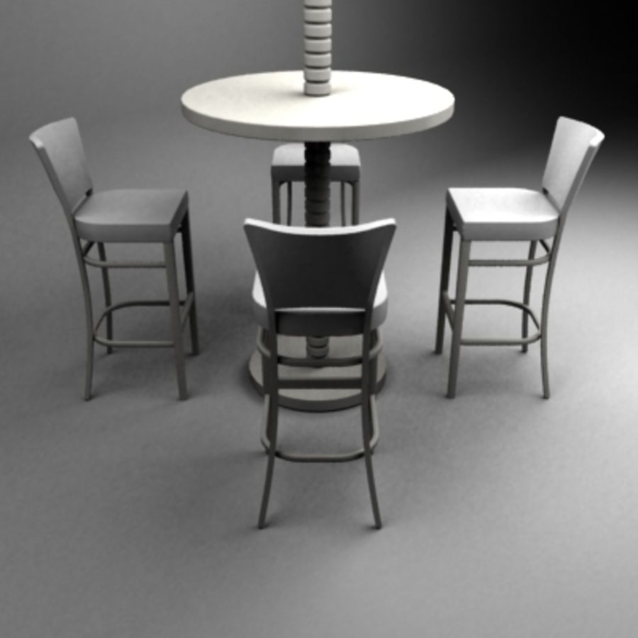 Bar set royalty-free 3d model - Preview no. 1