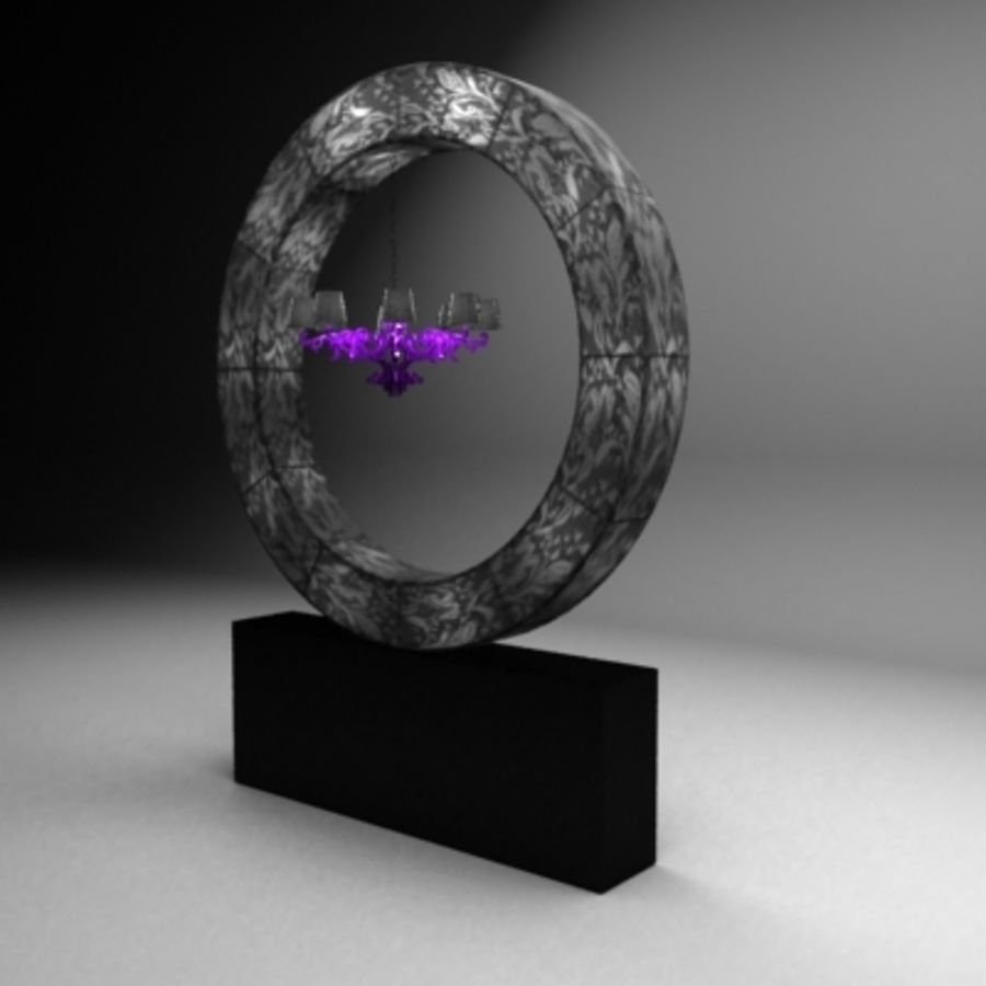 Ring lamp royalty-free 3d model - Preview no. 2