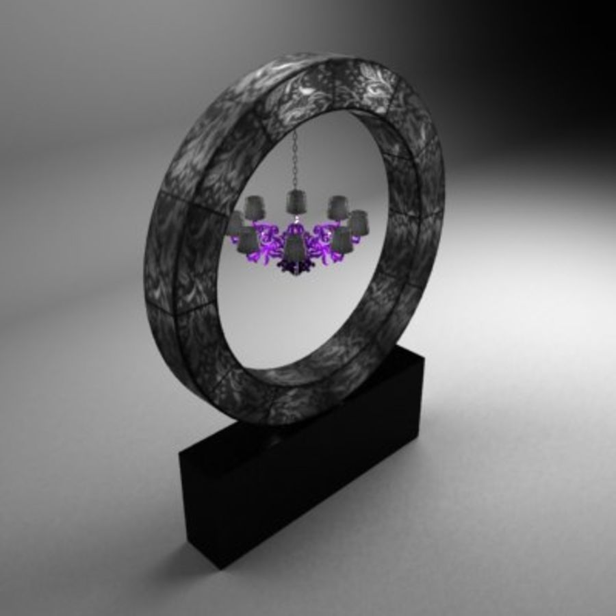 Ring lamp royalty-free 3d model - Preview no. 1