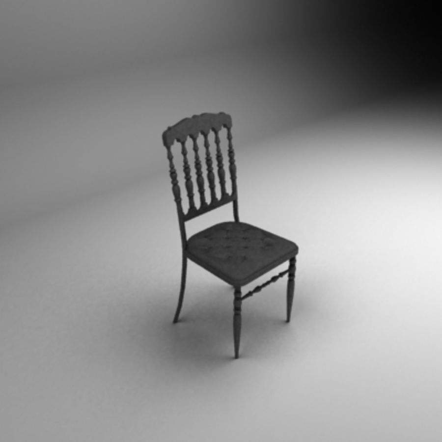 Napoleon chair royalty-free 3d model - Preview no. 2
