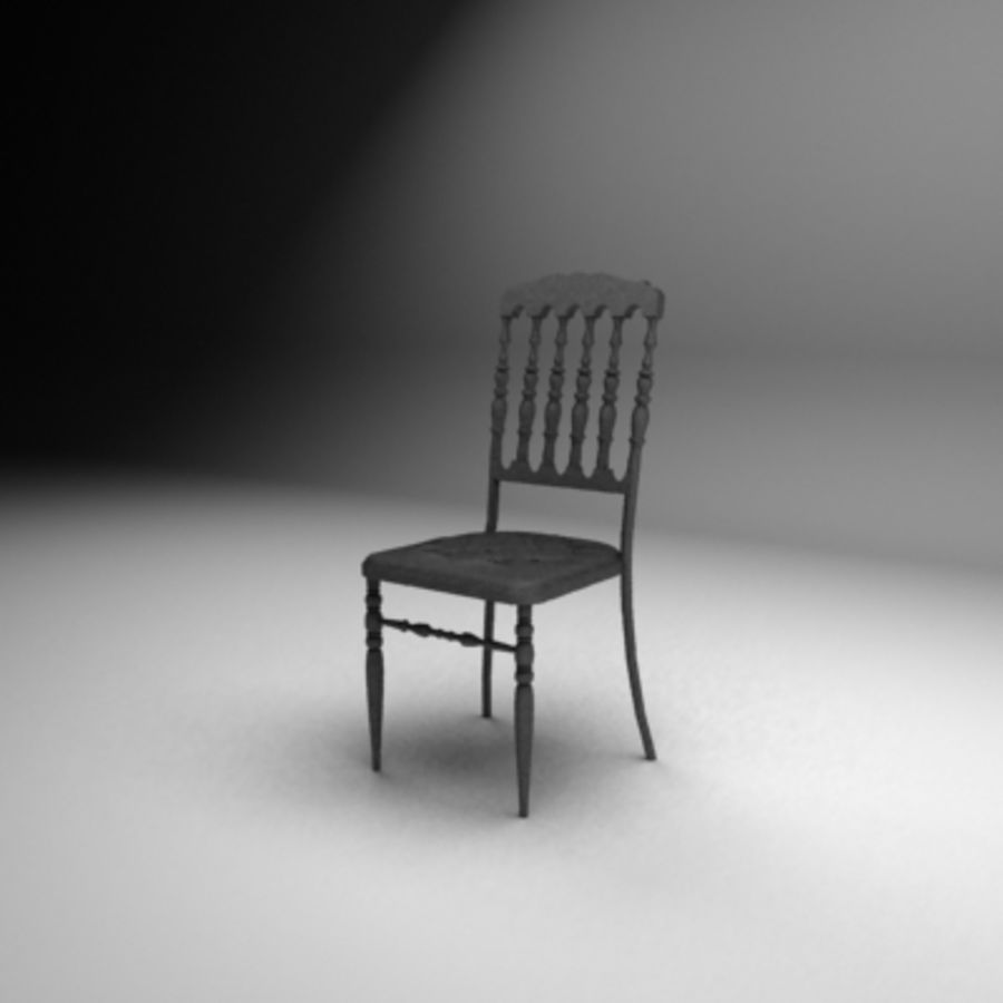 Napoleon chair royalty-free 3d model - Preview no. 1