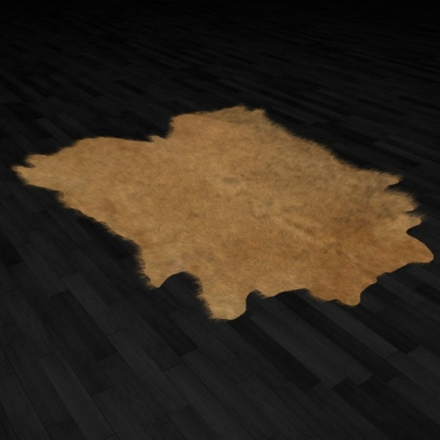 Animal Skin Rug N7 royalty-free 3d model - Preview no. 1
