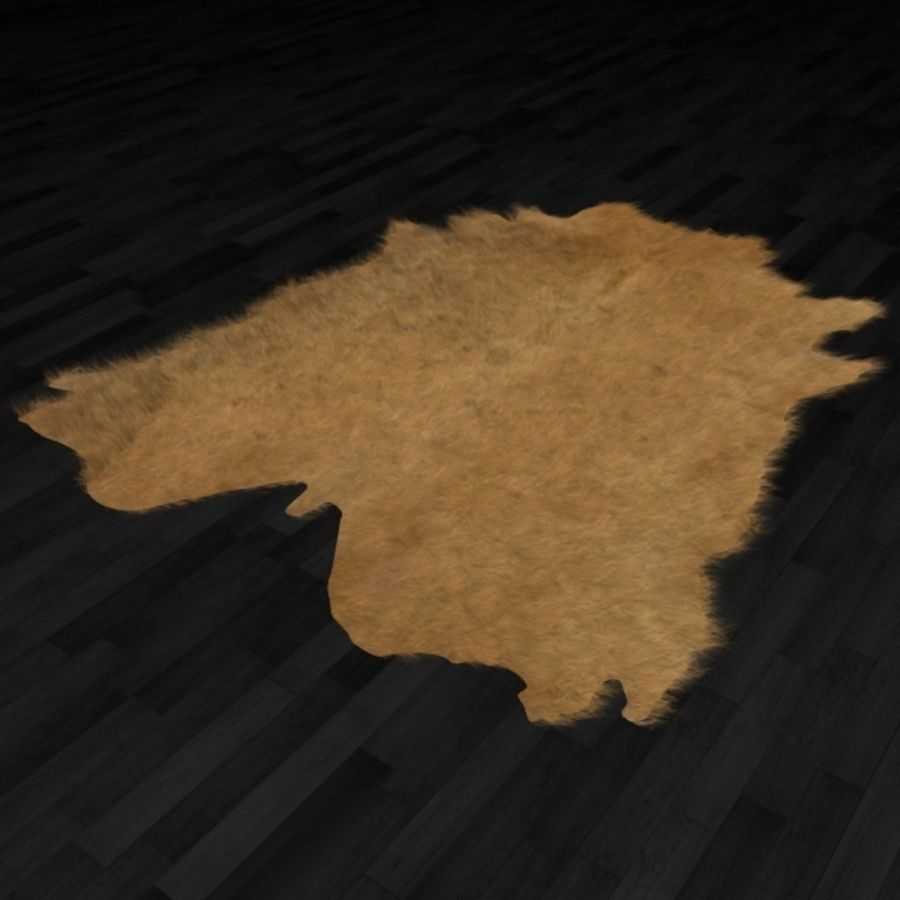 Animal Skin Rug N7 royalty-free 3d model - Preview no. 2