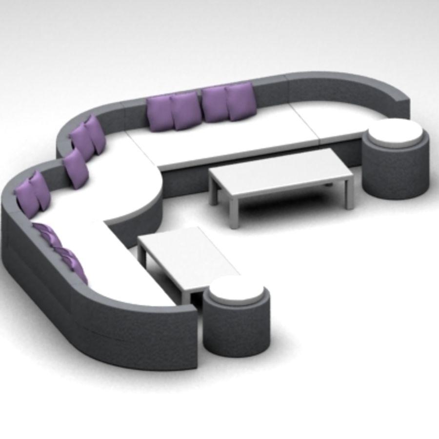 Alternative Sofa Set royalty-free 3d model - Preview no. 1