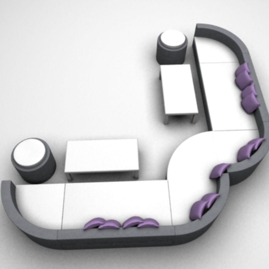 Alternative Sofa Set royalty-free 3d model - Preview no. 3