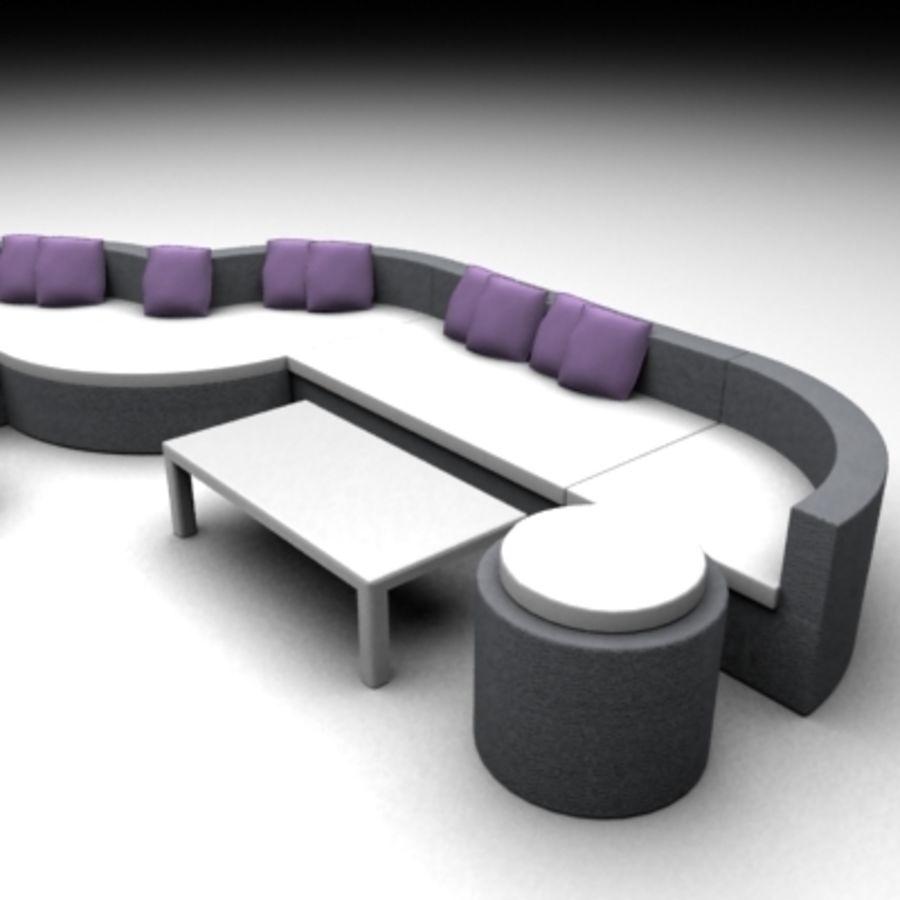 Alternative Sofa Set royalty-free 3d model - Preview no. 2