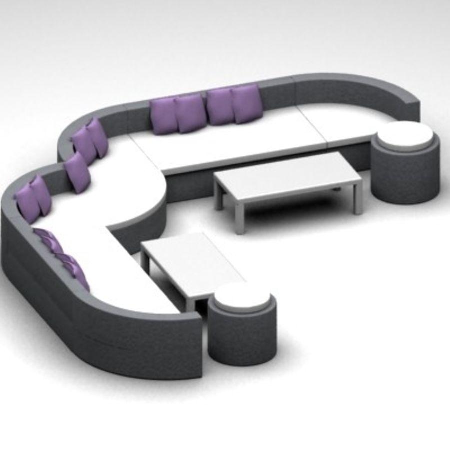 Alternative Sofa Set royalty-free 3d model - Preview no. 5