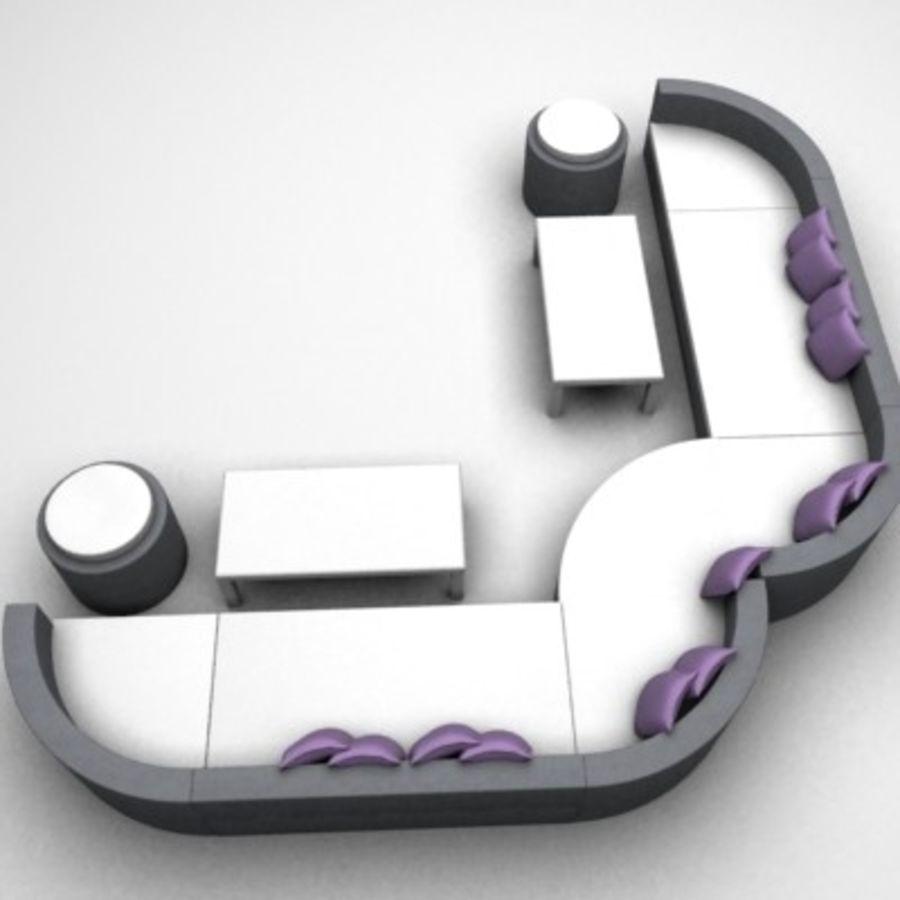 Alternative Sofa Set royalty-free 3d model - Preview no. 4