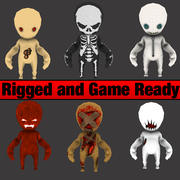 Horror Game Characters 3d model